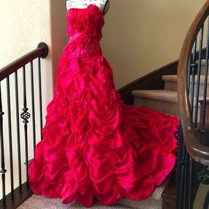 Mary's Bridal Quinceanera Prom Magenta Dress NWT 8
